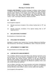 COUNCIL Monday 8 October 2012 - Meetings, agendas, and ...