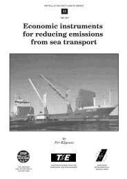 Economic instruments for reducing emissions from sea ... - Airclim