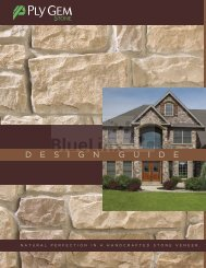 Ply Gem Stone Design Guide - BlueLinx