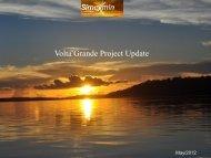 Volta Grande Project Update - ADIMB