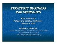 STRATEGIC BUSINESS PARTNERSHIPS