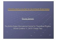 Quantum Espresso Introduction - LinkSCEEM