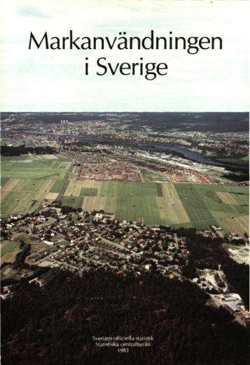 [första utgåvan] = Land use in Sweden : [first edition] - Statistiska ...
