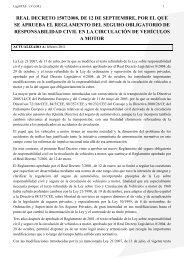 Reglamento del seguro obligatorio y responsabilidad civil en la ...