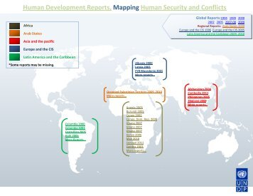 Human Development Reports, Mapping Human Security and Conflicts