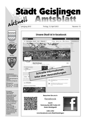 Altmaterial- sammlung Am Samstag, den 14. April - Stadt Geislingen