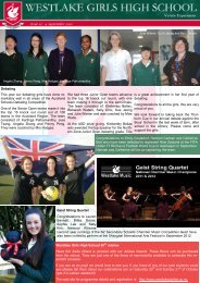 Issue 12 - 4 September 2012 Westlake Girls High School 50th ...
