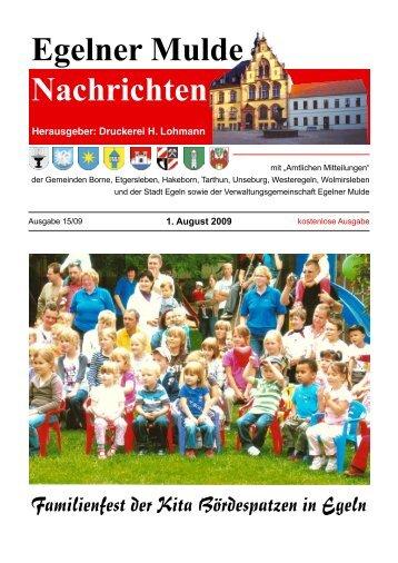 Egelner Nachrichten August 2009 - Druckerei Lohmann