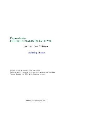 Paskaitų konspektas - Matematikos ir Informatikos fakultetas