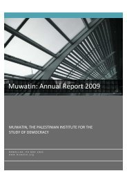 Muwatin: Annual Report 2009