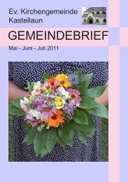 Besondere Termine Mai / Juni - Evangelische Kirchengemeinde ...