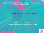 DAD.NET CONFERENCE DRUGS, ALCOHOL WOMEN NETWORK ...
