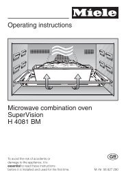 Operating instructions Microwave combination oven SuperVision H ...