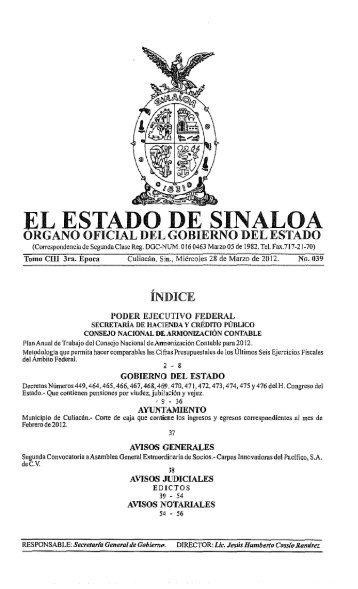 Gobierno del Estado de Sinaloa