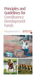 Principles and Guidelines for Constituency Development Funds