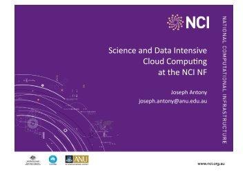 Joseph Antony Cloud Presentation - NeCTAR