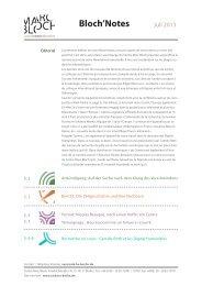 deuxième numéro de notre Newsletter Bloch'Notes - Centre Marc ...