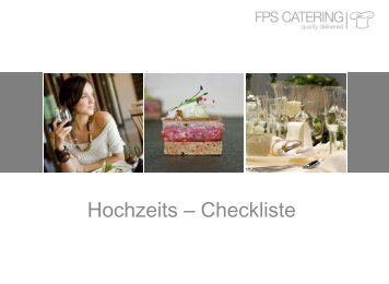 Hochzeits – Checkliste - FPS Catering