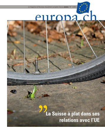 N° 1/2012: La Suisse à plat dans ses relations avec l'UE