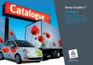 Avery Graphics™ Cata logue - Avery Dennison - Avery Graphics
