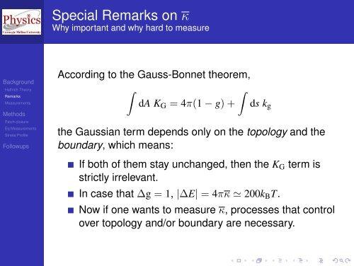 Determining the Gaussian curvature modulus of lipid ... - ESPResSo