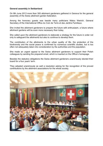 General assembly in Switzerland On 8th June 2013 more than 300 ...