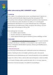 NSMs risikovurdering 2005, UGRADERT versjon