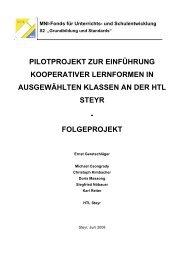Pilotprojekt zur Einführung kooperativer Lernformen - IMST