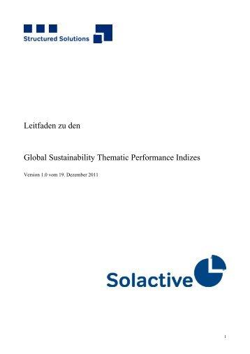 Leitfaden zu den Global Sustainability Thematic ... - Solactive AG