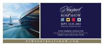 SEPT. 12-15, 2013 - Newport International Boat Show