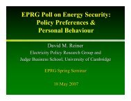 EPRG Poll on Energy Security - Electricity Policy Research Group ...