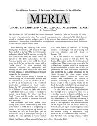 Osama Bin Laden and al-Qaeda - GLORIA Center