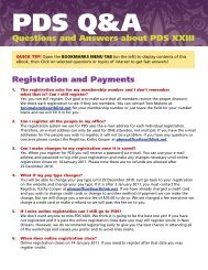 PDS Q&A - Join PHMA!
