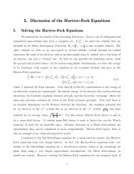 3. Discussion of the Hartree-Fock Equations