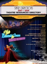 July Issue - Stage Directions Magazine