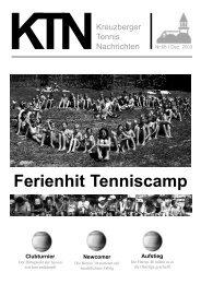 Club Intern - Tennisclubs Grün Weiß Am Kreuzberg