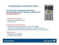 Grundfos dubultsūkņu kontroles bloks GE 100 - apraksts - Sanistal