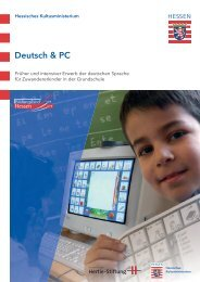 Deutsch & PC – ein Förderkonzept - Grundschule - Hessen