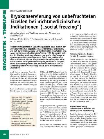Kryokonservierung von unbefruchteten Eizellen bei ... - FertiProtekt