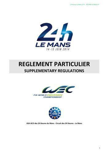 2014-24-heures-du-mans-supplementary-regulations