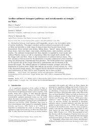 Aeolian sediment transport pathways and aerodynamics at troughs ...