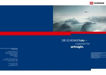 Airfreight brochure - Schenker