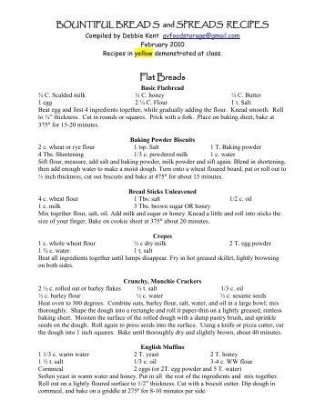 Bountiful Breads and Spreads Recipes.pdf - Peace of Preparedness