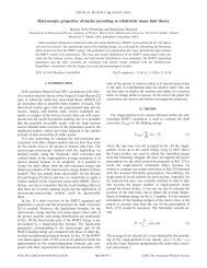 Macroscopic properties of nuclei according to relativistic mean field ...