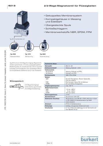 2/2-Wege-Magnetventil für Flüssigkeiten • Gekoppeltes ... - Burkert
