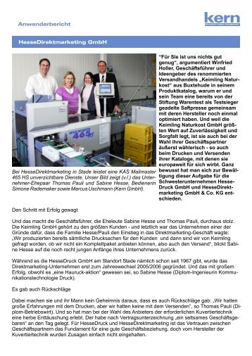 Hesse Direktmarketing GmbH.pdf - Kern Schweiz