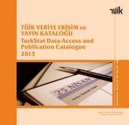 Katalog 2013.indd - Türkiye İstatistik Kurumu