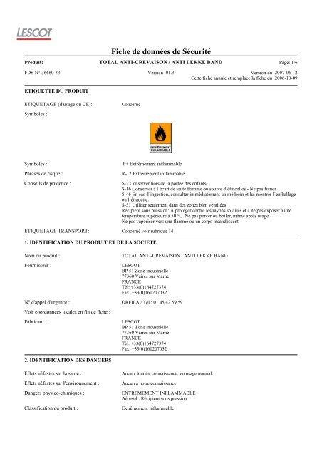 total anti-crevaison / anti lekke band - Accueil - Société - Produits ...