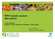 WP8 Conjoint analysis Macedonia - Focus-Balkans