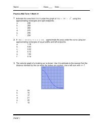 Date: ______ PAGE 1 Practice Mid Term 1 Math 31 1 Estimate the ...
